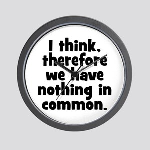 Nothing in Common Wall Clock