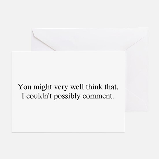 I couldn't possibly. Greeting Cards (Pk of 20)