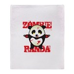 Zombie Panda Throw Blanket