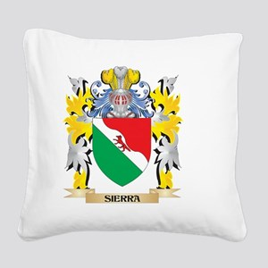Sierra Family Crest - Coat of Square Canvas Pillow