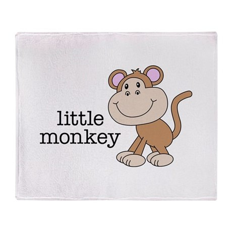 Little Monkey Throw Blanket