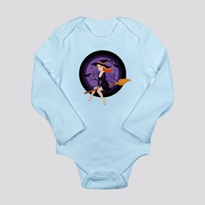 Red Headed Witch Long Sleeve Infant Bodysuit