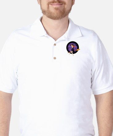 Red Headed Witch Golf Shirt