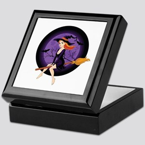 Red Headed Witch Keepsake Box