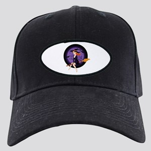 Red Headed Witch Black Cap