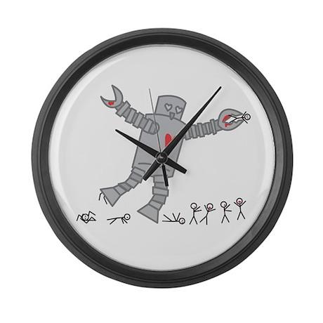 Robot Love Large Wall Clock