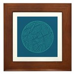 Circle Design Framed Tile