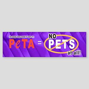 Stop PeTA Bumper Sticker