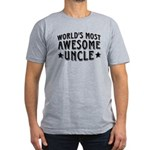 Awesome Uncle Men's Fitted T-Shirt (dark)