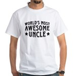 Awesome Uncle White T-Shirt