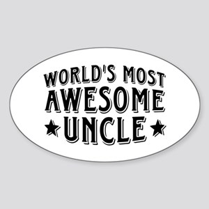 Awesome Uncle Sticker (Oval)