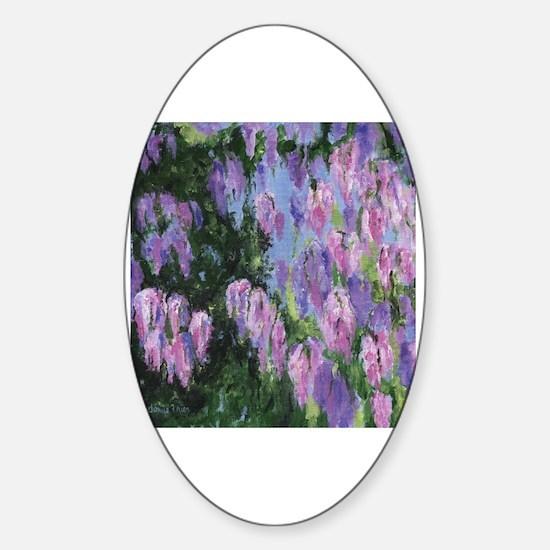 Purple cactus flower petals Sticker (Oval)