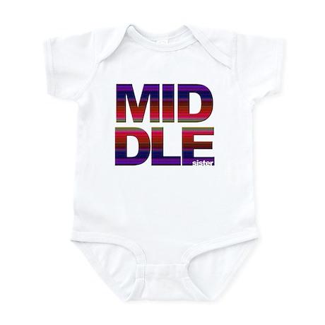 Middle sister stripes Infant Creeper