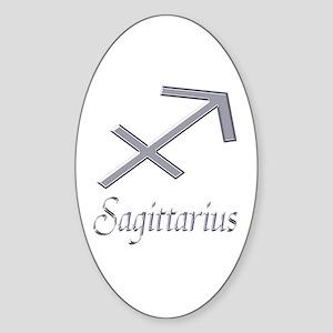 Sagittarius Zodiac Gifts Oval Sticker
