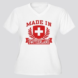 Made In Switzerland Women's Plus Size V-Neck T-Shi