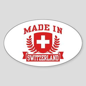 Made In Switzerland Sticker (Oval)