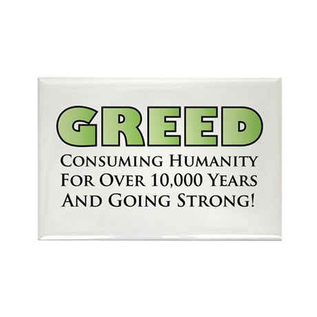 Greed Rectangle Magnet (10 pack)