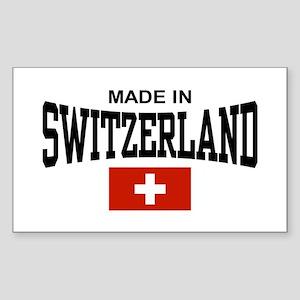Made In Switzerland Sticker (Rectangle)