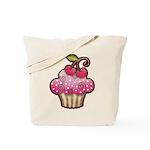 Cherry Berry Cupcake Tote Bag