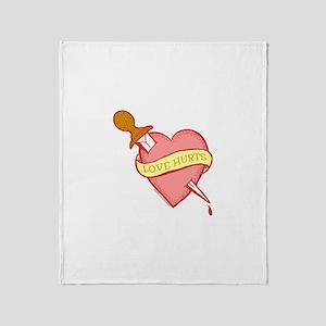 Tattoo Heart Throw Blanket