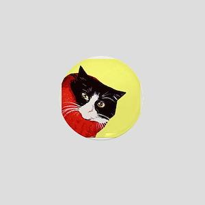 Cat So Fluff Retro Art Mini Pin Badge