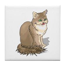 Ragdoll Cat Portrait Tile Coaster