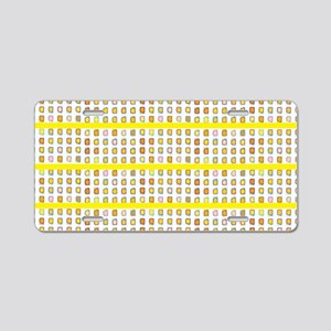 YELLOW FLOWER Aluminum License Plate