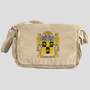 Simeon Family Crest - Coat of Arms Messenger Bag