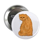 Red Persian Cat Portrait Button