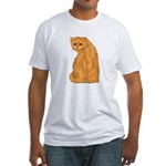 Red Persian Cat Portrait Fitted T-Shirt