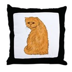 Red Persian Cat Portrait Throw Pillow