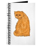 Red Persian Cat Portrait Journal
