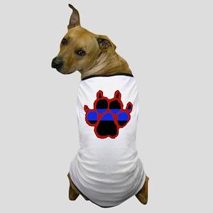 Red Paw Print Dog T-Shirt
