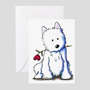 Westie Love Bucket Greeting Cards (Pk of 10)