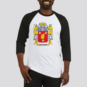 Simmons Family Crest - Coat of Arm Baseball Jersey