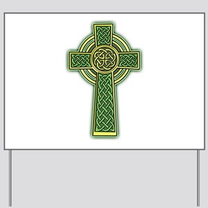 Celtic Cross Yard Sign