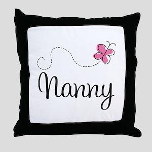 Cute Nanny Throw Pillow