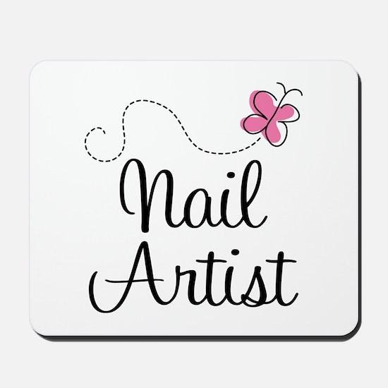 Cute Nail artist Mousepad