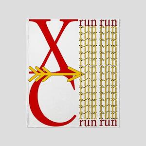 XC Run Red Gold Throw Blanket