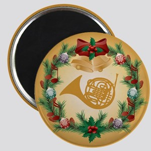Christmas French Horn Magnet