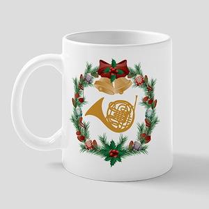 Christmas French Horn Mug