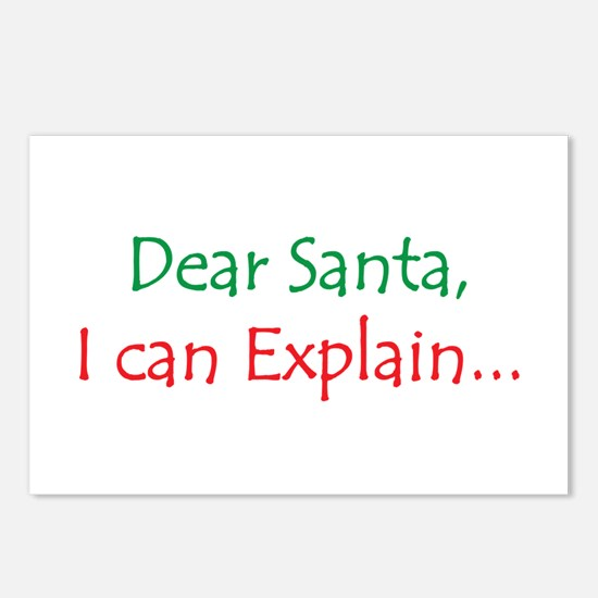 Dear Santa, I Can Explain... Postcards (Package of