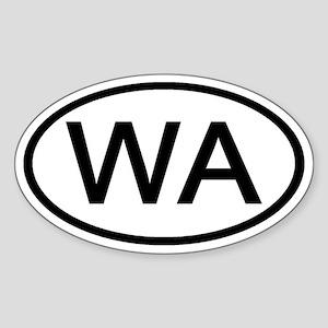 Washington - WA - US Oval Oval Sticker