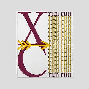 XC Run Maroon Gold Throw Blanket