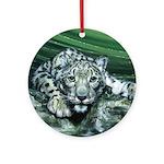 Snow Leopard Ornament (Round)