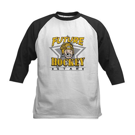 Future Hockey Star Yellow Kids Baseball Jersey
