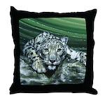 Snow Leopard Throw Pillow