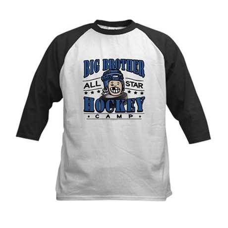 Big Brother Hockey Blue Kids Baseball Jersey