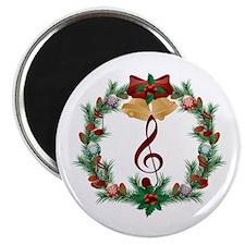 Treble Christmas Music Magnet
