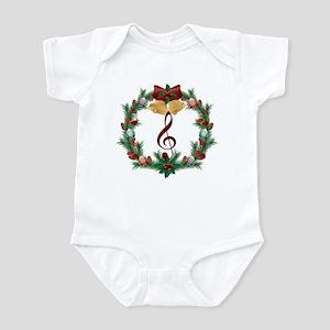 Treble Christmas Music Infant Bodysuit